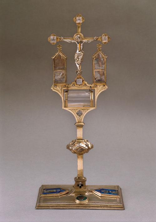 Ostensorium von Heimbach-Weiss, Köln um 1300, Köln, Museum Schnütgen, Inv. G 527, Foto Rheinisches Bildarchiv, Köln