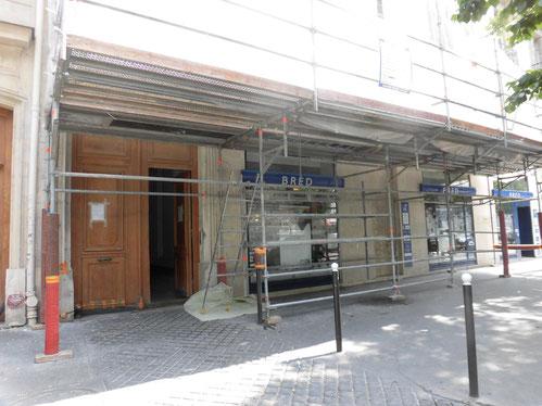 パリの足場 全体造 敷地にゆとりが・・・
