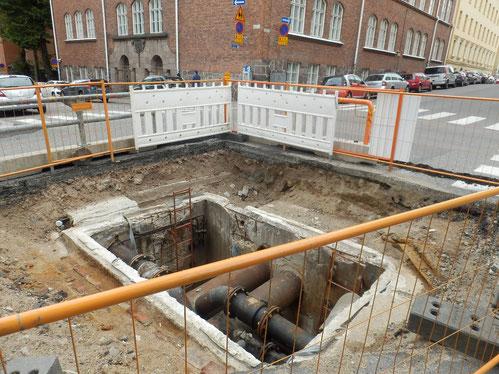 フィンランドのヘルシンキの工事現場