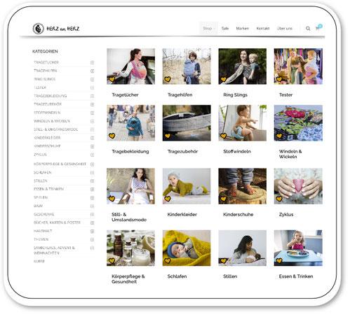 Herz an Herz Babyladen Onlineshop