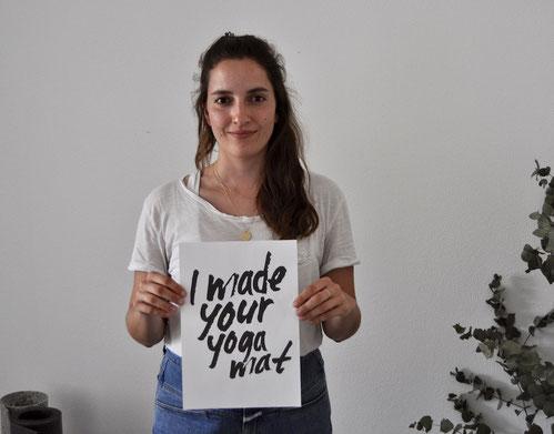 Sophie ist eine der Gründerinnen von hejhej-mats und setzt sich für deine faire Yogamatte ein.