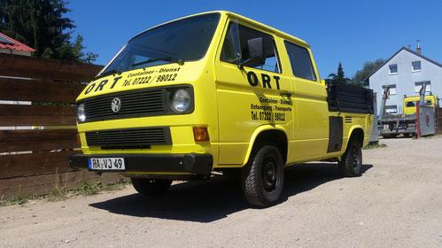 Ort Container Service Fahrzeug