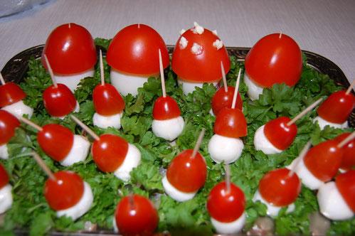 Mozzarella-Pilze
