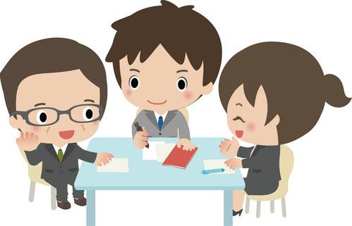 社労士と相談するイラスト