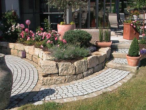 Terrassengestaltung mediterran,  Gartengestaltung Regensburg-München