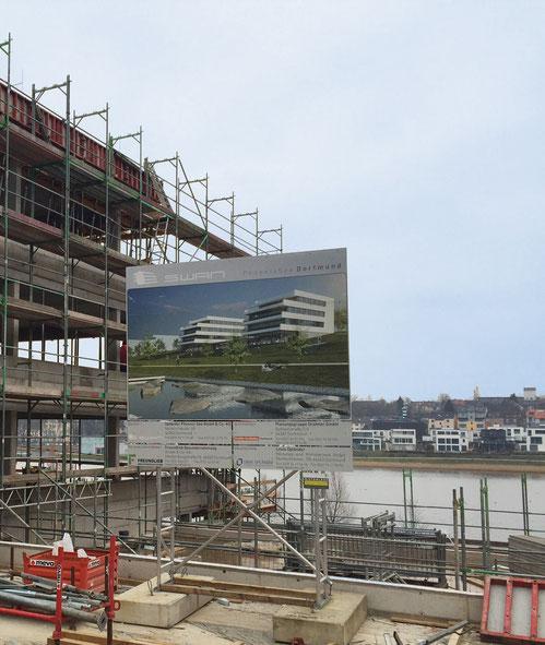 Baustelle SWAN | PHOENIX See Dortmund | Blick in Richtung See