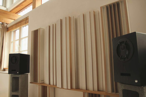 Akustik gestufter 1-D Diffusor - Modulation