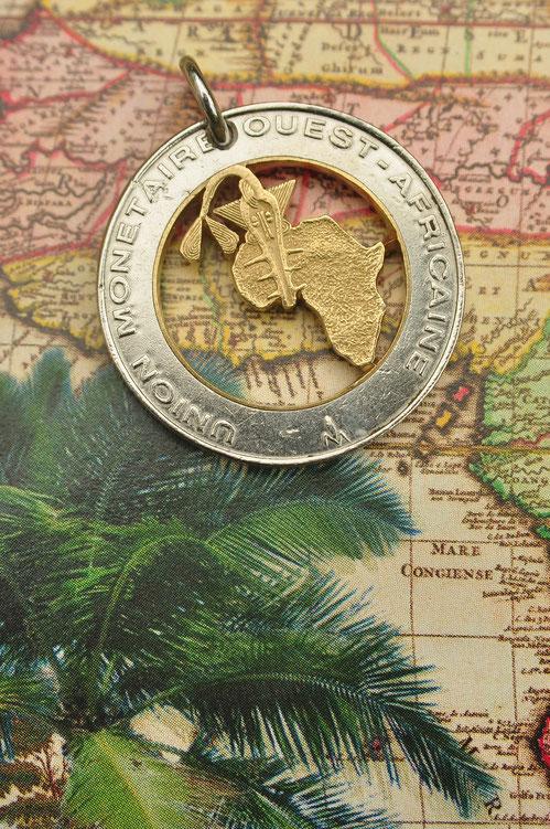 Münzsägewerk Katrin Thull   Guinea Bissau - Landkarte