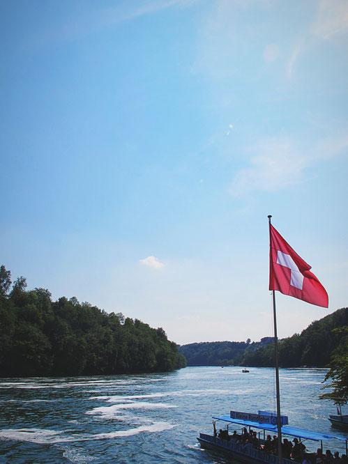 suisse drapeau rhin bateaux forêt bigousteppes