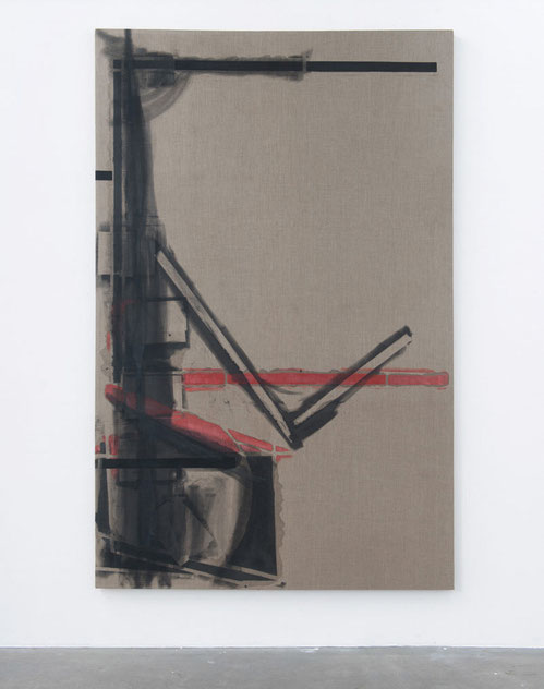 Heiner Blumenthal l untitled, 2013/14, 270 x 190 cm  I pigment, alcyd on cotton