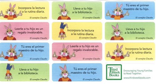 Early Literacy Stickers (Spanish)