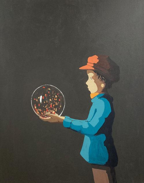 autumn's light - Acryl auf Leinwand, 100x80cm, 2020 | verkauft