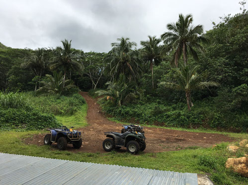 See inner Rarotonga on a quad bike