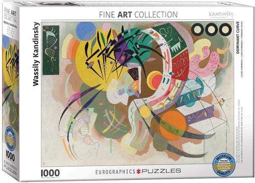 """Puzzle Wassily Kandinsky """"Dominante Kurve"""""""