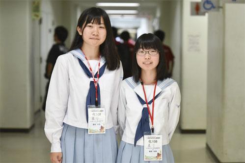 左から 園田詩歩さん(2年)、藤原有希さん(2年)