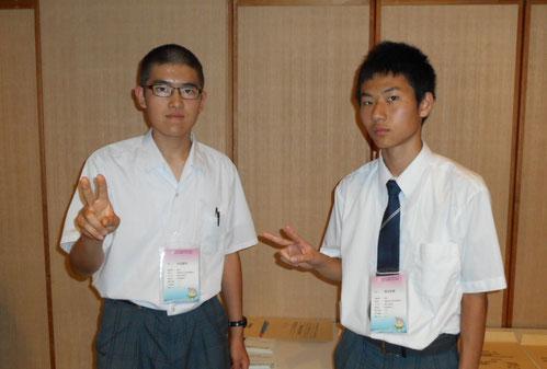 左から 杉田遼河くん(4年)、橋本智憲くん