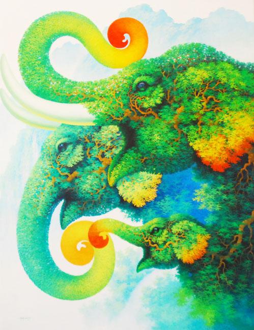 Elefanten Gemälde Elefant Kunst Bild