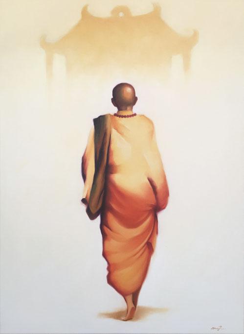 Mönch und Tempel Asia Art
