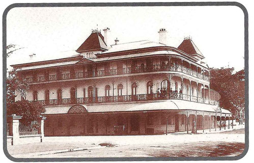 Meher Baba stayed with His men mandali for one night at the Bellevue Hotel in Brisbane. It has since been demolished. Glow mag. August 2002  p.13 -  from the Grace Swan collection