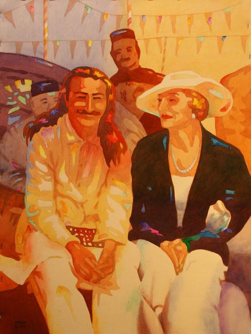 Meher Baba with Princess Norina Matchabelli