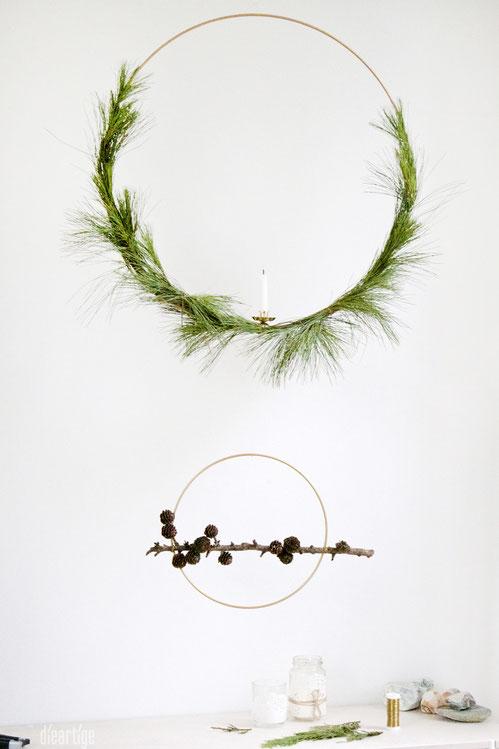 dieartigeBLOG - Simpel & Pur, DIY Ring-Dekoration