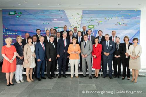 Am 1. Juli traf sich die Landesgruppe zum Gespräch mit der Bundeskanzlerin (Foto: Bundesregierung / Guido Bergmann)