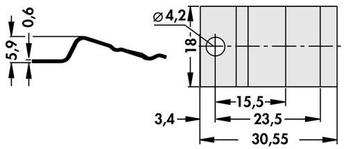 THFK247 Fischer Elektronik トランジスタ固定用スプリング