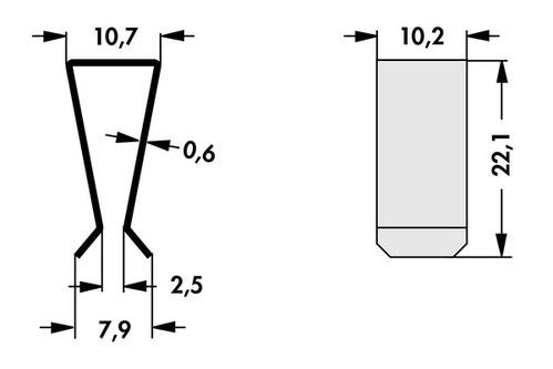 THFA1 Fischer Elektronik トランジスタ固定用スプリング