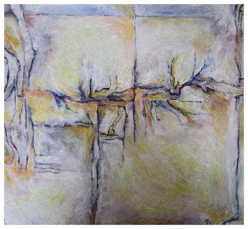 """""""Archäologische Strukturen II"""" 2006, ET/LW 100x100"""