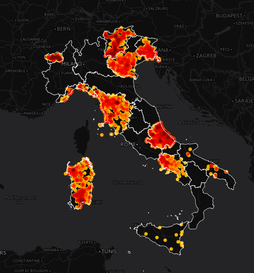mappa italia amianto