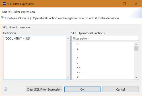 SQL Filter