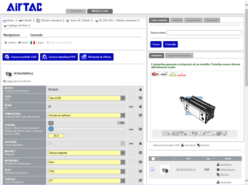 KOMPAUT, formato 3 D catalogo Airtac