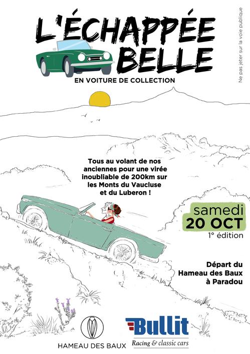"""""""L'Échappée belle"""" en voiture de collection du Hameau des Baux avec Bullit Racing & Classic Cars"""