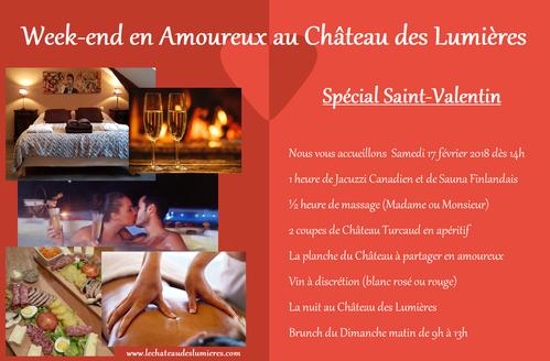 Offre Spéciale pour la Saint Valentin au Château des Lumières