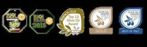 Auszeichnungen BIO Olivenöl, olive oil award Zürich, biol gold medalien