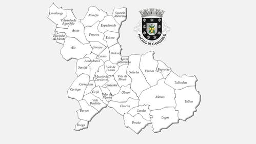 Freguesias do concelho de Macedo de Cavaleiros antes da reforma administrativa de 2013