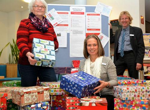 Dankbar über die große Spendenbereitschaft: v.li. Gerda Heesch, Kerstin Stäcker und Michael Harder.