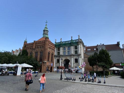 Danzig, Langgasser Tor, Fußgängerzone, Hof der St.-Georg-Schützenbruderschaft