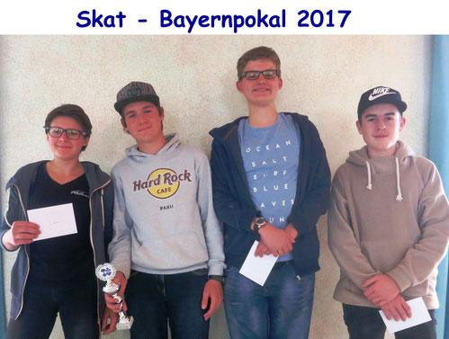 Kathi Brandhofer 2., Sieger Lukas Brandhofer (beide Gesellige Runde Bad Tölz), Malte Puetz 3. (Regensburg), Roman Krickl 4.  (Germering)