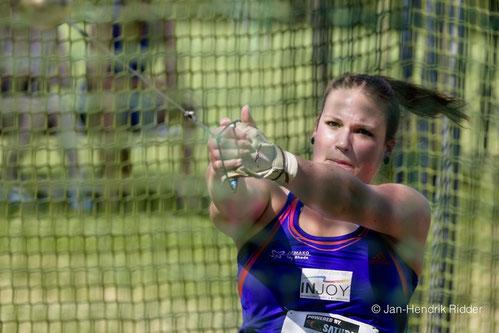 Mit 53,10 Metern zum Saisoneinstand übertrifft Maximiliane Langguth die U23-DM-Norm um mehr als sieben Meter. (Foto: Jan-Hendrik Ridder)
