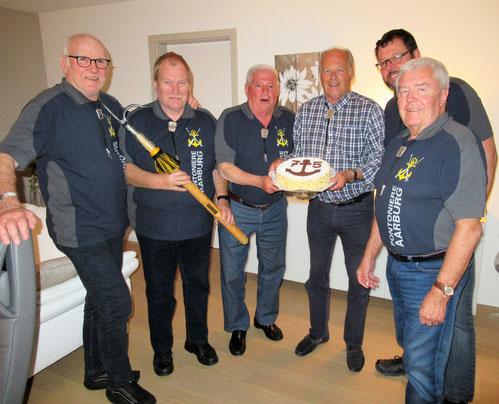 Hans Hofer, Bernhard Wullschleger, Hugo Schaub, Carl Müller, Beat Bolliger und Hans Kündig (v li n re)