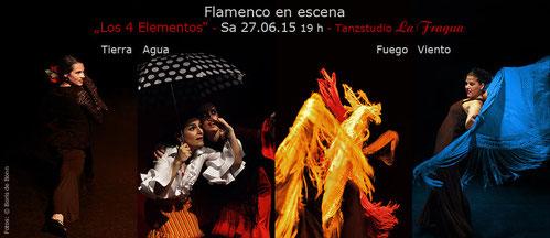 """Titelfoto zum spanischen Sommerfest 2015 im Tanzstudio La Fragua mit der Flamenco-Aufführung """"Los 4 elementos""""/Color-Foto by Boris de Bonn"""