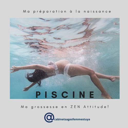 préparation naissance grossesse piscine