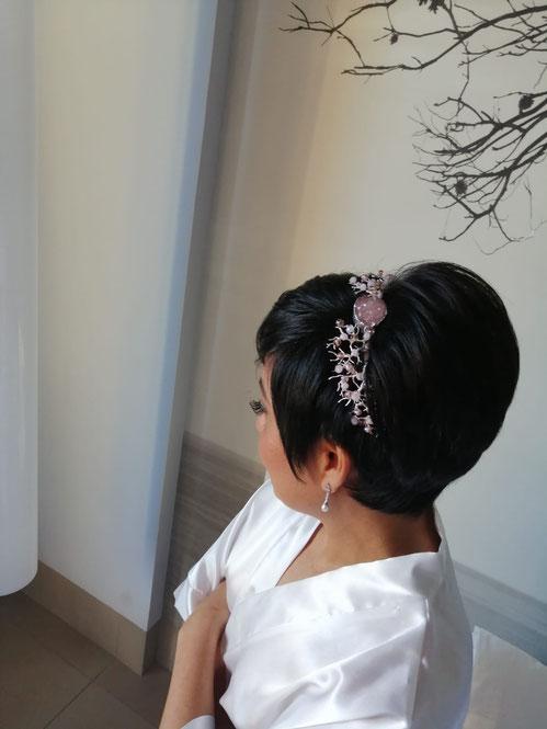 novia con pelo corto