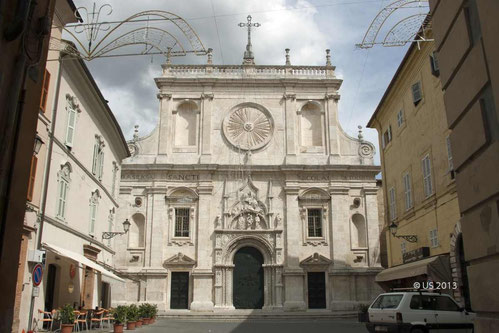 Die Basilika in Tolentino