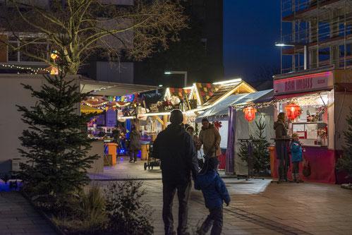 Eingangsbereich des Raunheimer Weihnachtsmarktes am Stadtzentrum