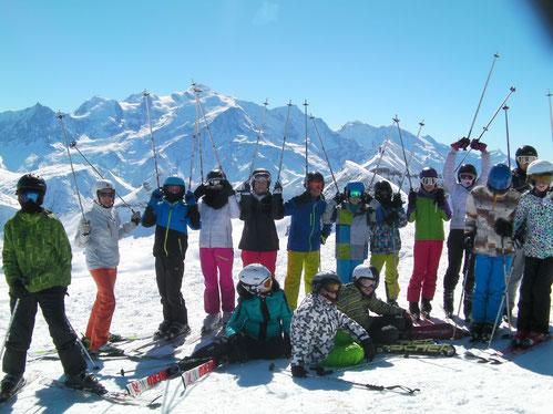 Une dernière journée 100% ski avec toujours un très beau soleil !