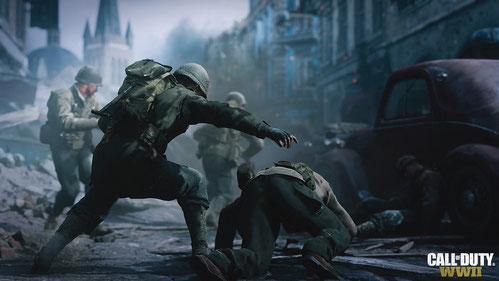 Sanitäter in CoD WW2 helfen euch bei der Heilung. Bilderquelle: Activision
