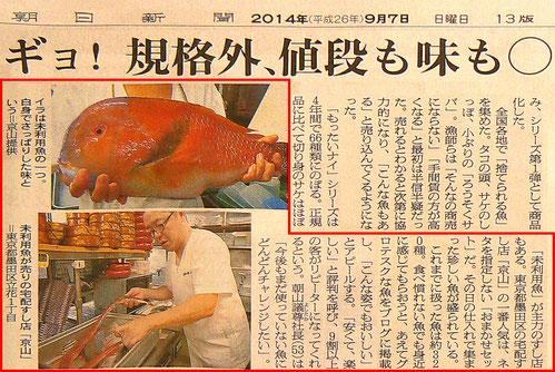 未利用魚 規格外の魚 寿司 出前