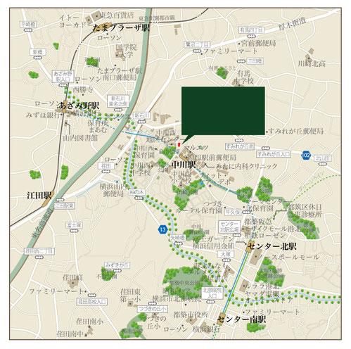 中川駅周辺地図